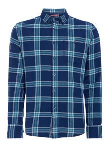 Kilton large check long-sleeved shirt