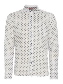 Jackson geo print long-sleeved shirt