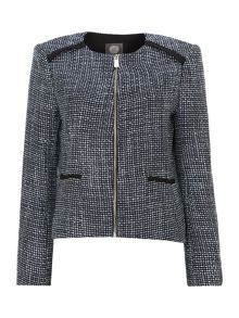 Tweed Zip Front Jacket