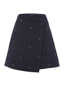 Vince Camuto Embellished wrap skirt
