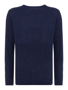 pelham textured crew neck jumper