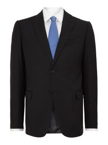 Metropolitan slim fit jacquard peak lapel suit