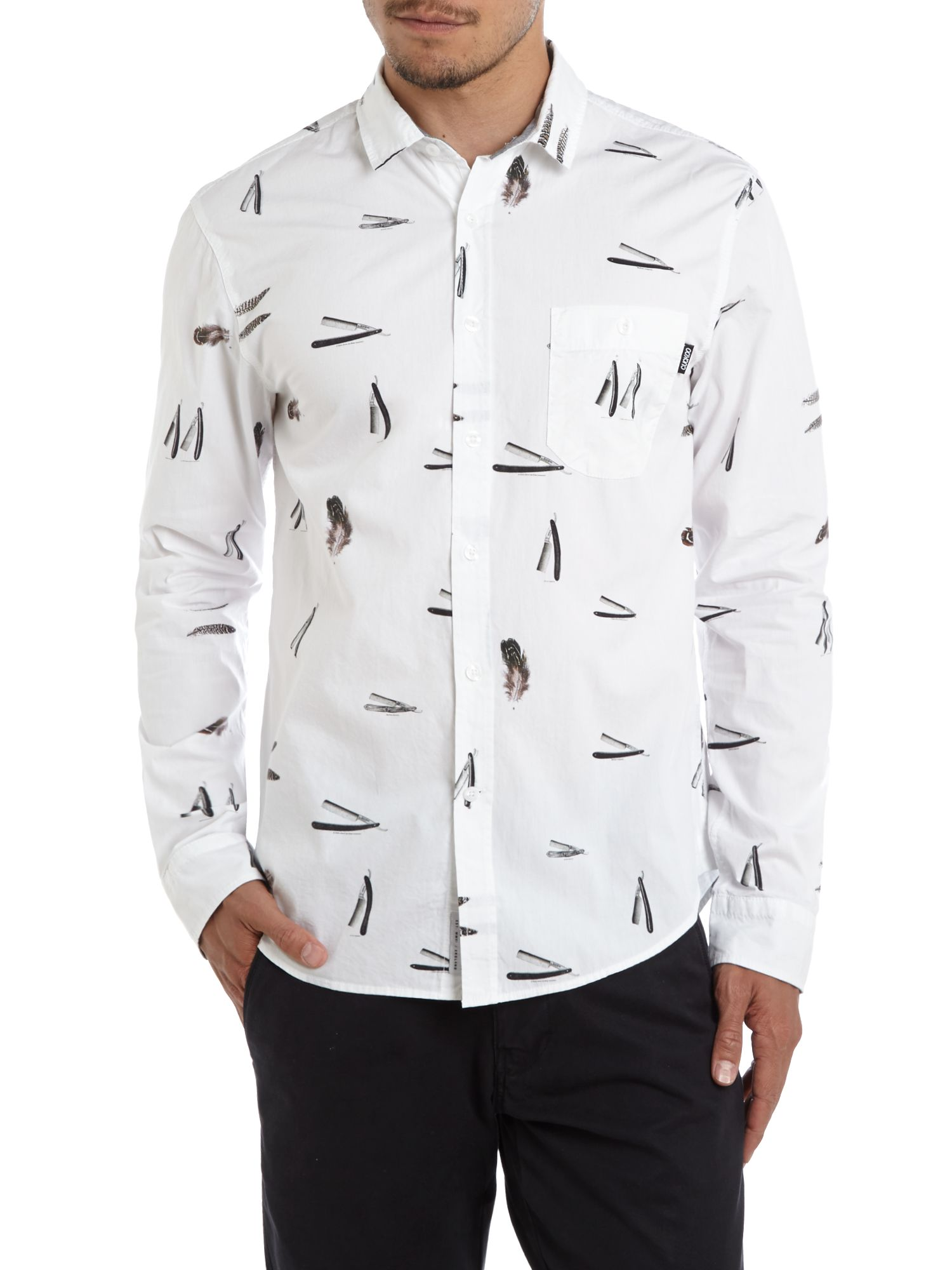 Close shave long sleeve shirt