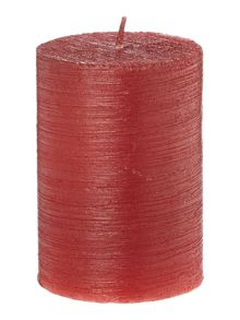 Small red glitter candle