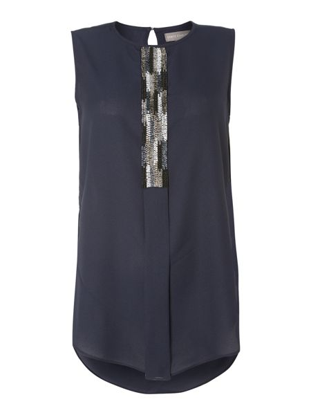 Vince Camuto Sleeveless bead front top