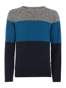 penshaw stripe crew neck jumper