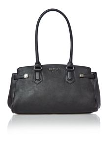 Amber black medium tote bag