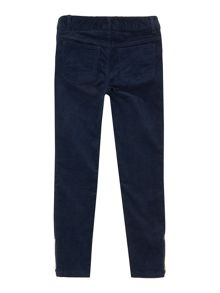 Girls cord zip trousers