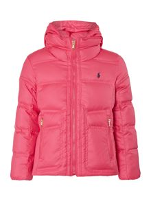 Girls small pony padded jacket