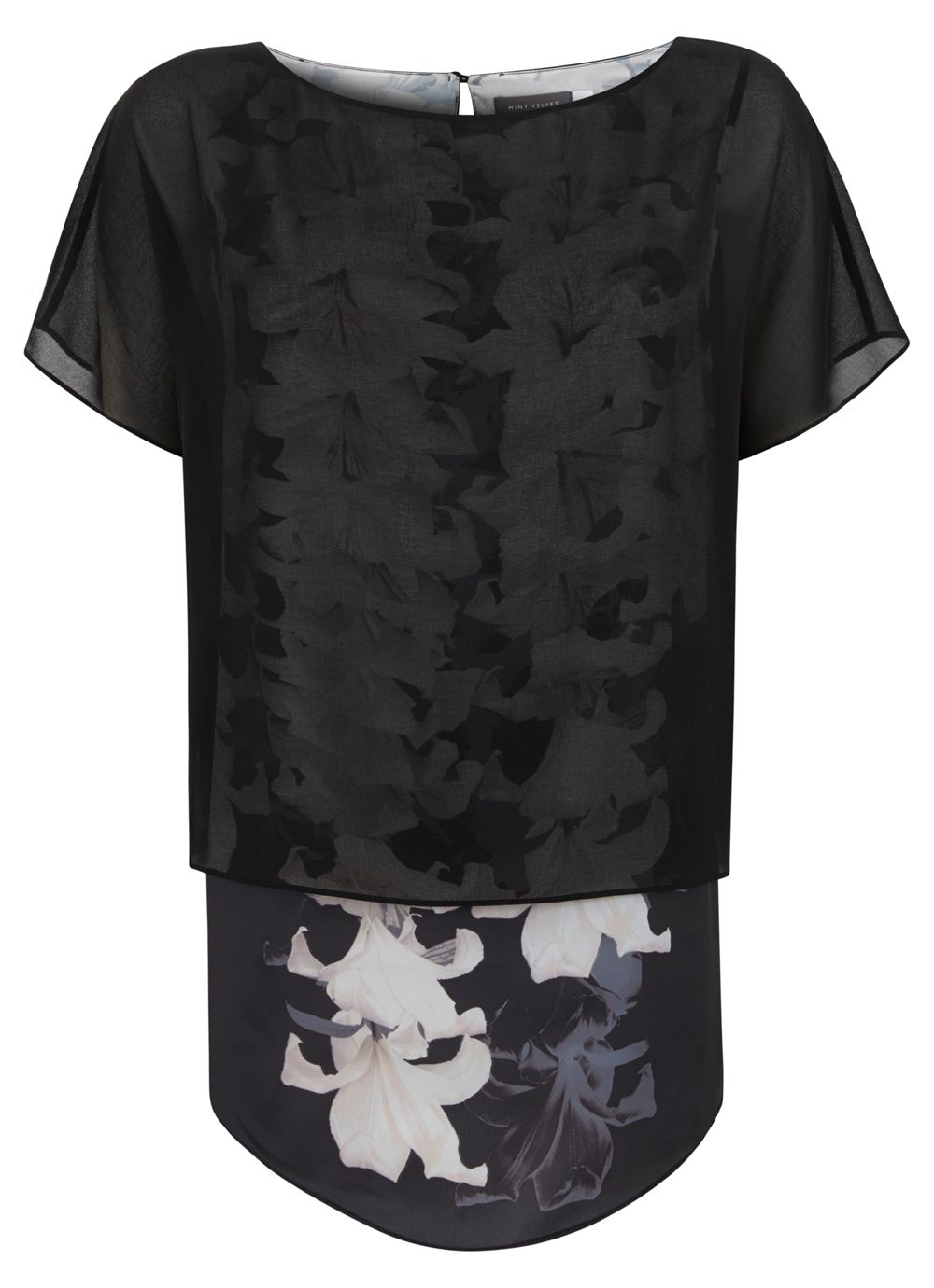Lily print layered t-shirt