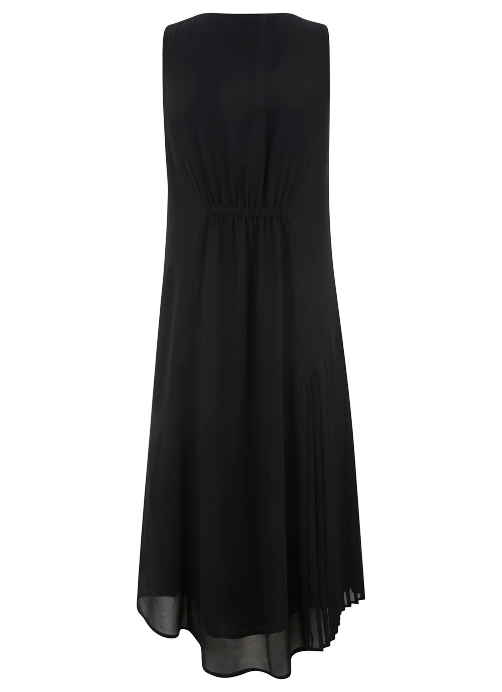 Black pleat & stud dress