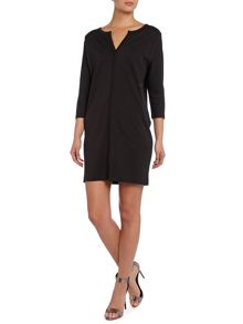 3/4 Sleeve Jersey Shift Dress