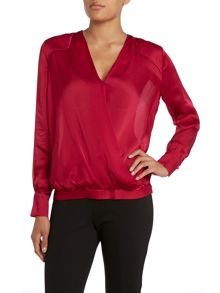 Hoss Intropia Long Sleeve Wrap Blouse
