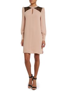 Hoss Intropia LS Lace Insert Shift Dress