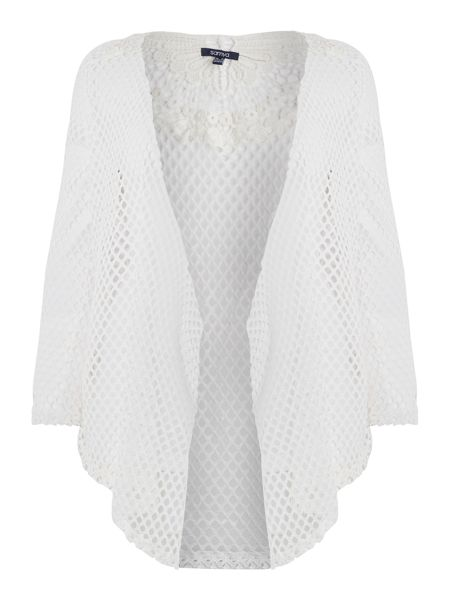 Samya Crochet detail netted cardigan