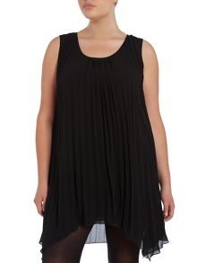 Samya Pleated tunic top