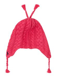 Girls small pony knitted hat with ear flap