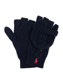 Girls small pony knitted gloves