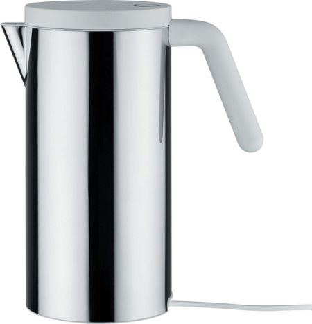 Alessi Hot.it Cordless Kettle, White Handle, 1.4L