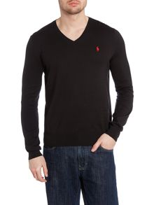Vneck cotton jumper