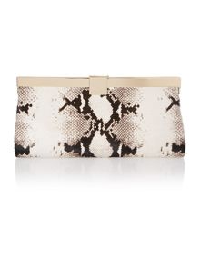 Black large exotic clutch bag