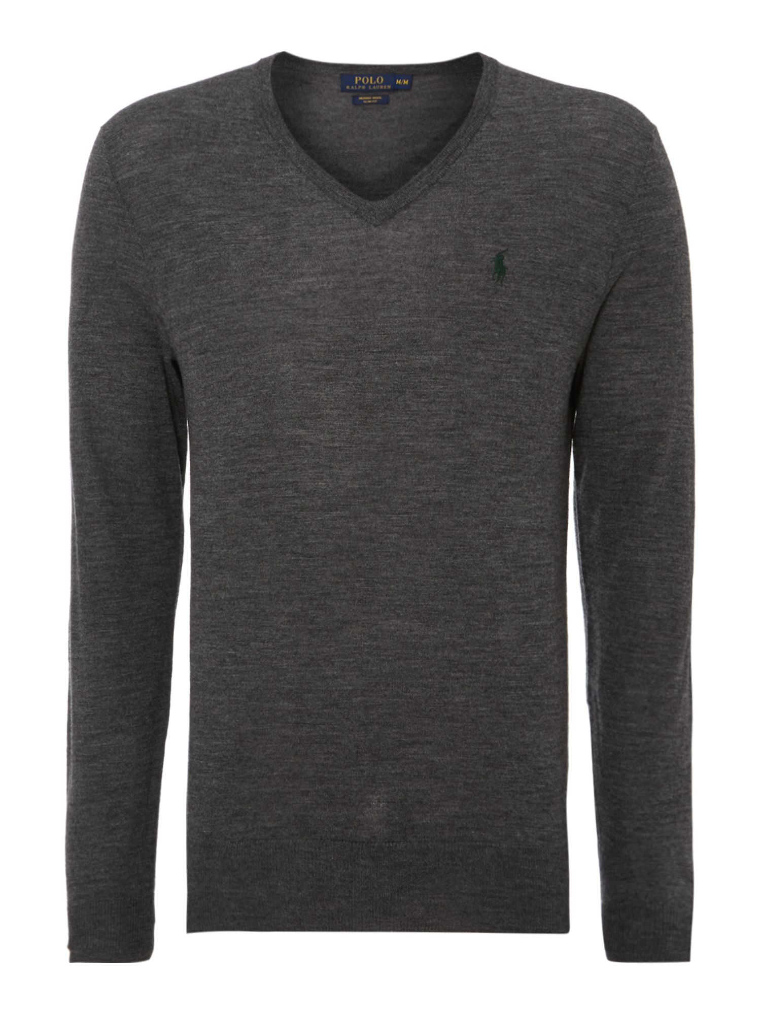 Vneck slim fit merino wool jumper