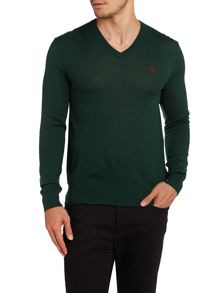 Polo Ralph Lauren Vneck slim fit merino wool jumper