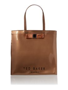 Rose gold large bowcon tote bag