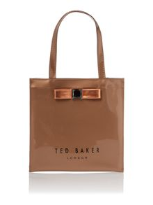 Rose gold small bowcon tote bag
