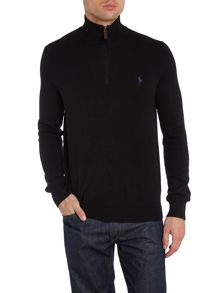 Funnel neck half zip mock pulloover