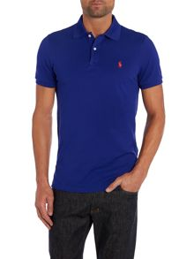 Short sleeve contrast collar polo
