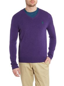 Vneck wool jumper
