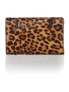 Multi coloured leopard cross body bag