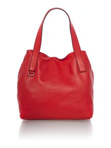 Red small tote bag