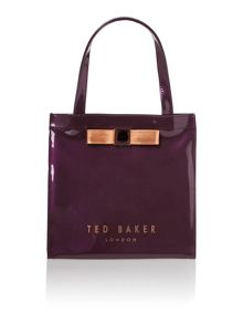 Purple small exclusive bowcon tote bag