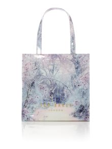 White small xmas bowcon tote bag