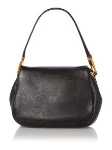 Black flap over cross body bag