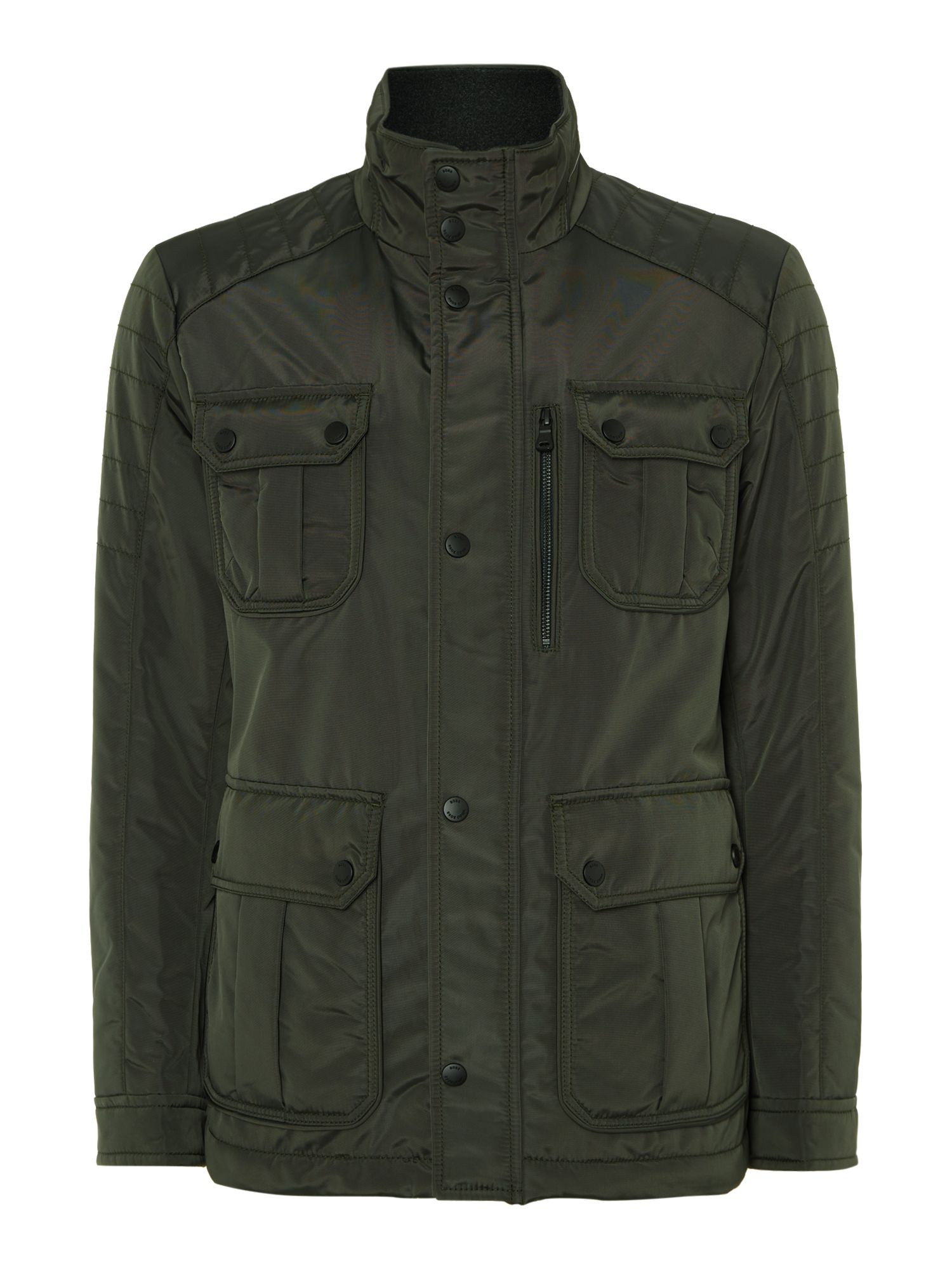 Mens Hugo Boss 4 pocket field jacket Khaki