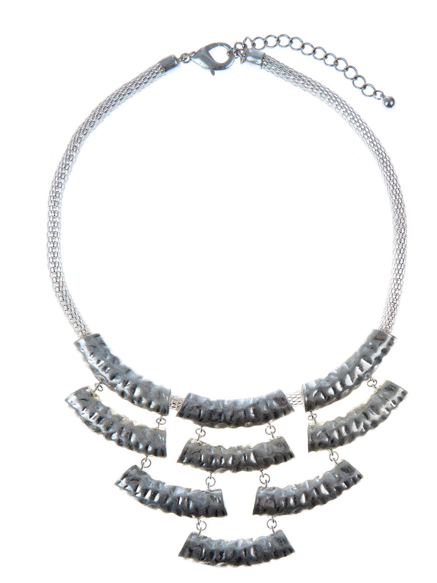 Hammered bib necklace