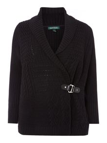 Long sleeve shawl cardigan