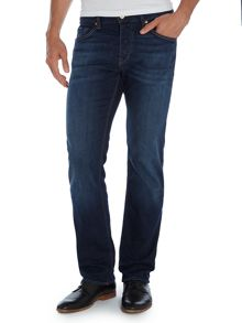 Maine regular straight mid wash jeans