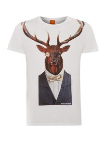 Man stag printed t shirt