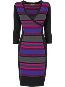 Gracey wrap illusion dress