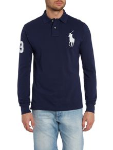 Custom fit long sleeve mesh polo shirt