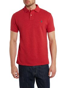 Custom fit short sleeve mesh polo shirt