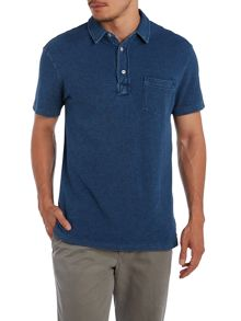 Custom fit short sleeve mesh polo shirt w/pocket