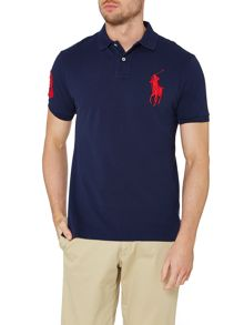 Custom fit short sleeve big pony polo shirt