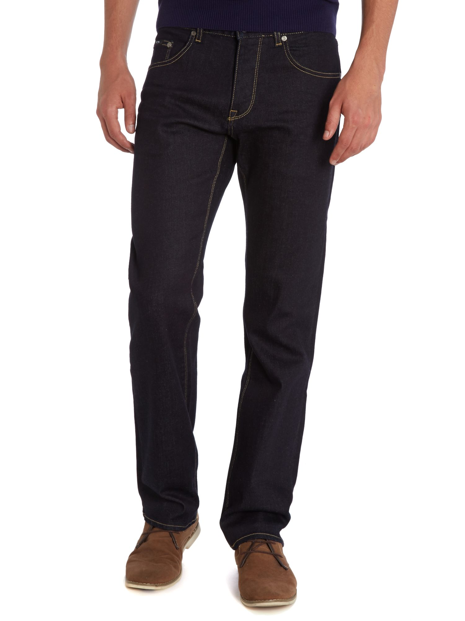 Maine regular straight dark rinse jean