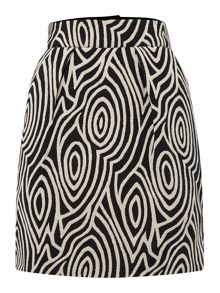 Mono Pattern Mini Skirt