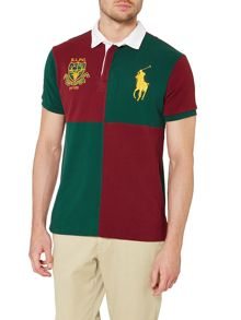 Custom Fit Short Sleeve Colour Block Polo Shirt